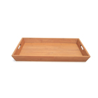Super Sturdy Bamboo Shot Glass Nuts Serving Tray with Handles