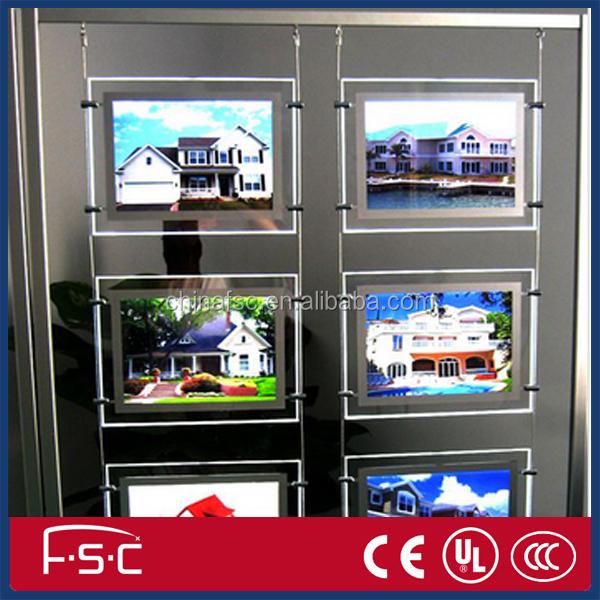 Real Estate Signs Led Crystal Acrylic Light Box Menu Board