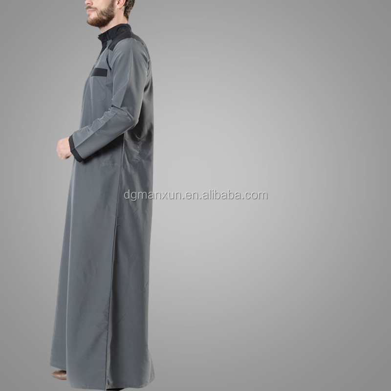High Quality Fashion Design Islamic Clothing Abaya Moroccan Style Arabia Long Sleeve Thobe Abaya