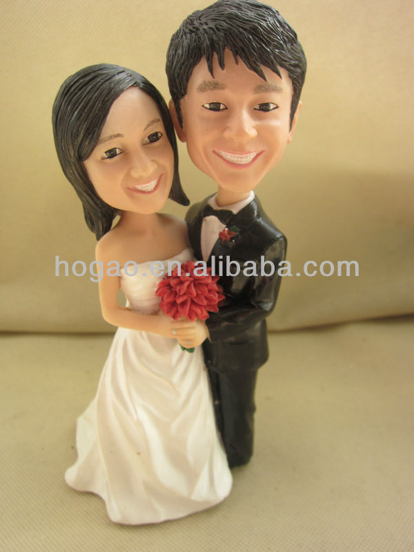 Custom wedding cake topper figurine