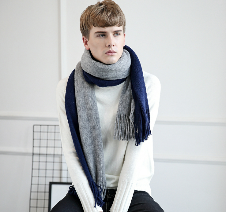 Made In China High Quality Custom Men woolen scarf Imitation Wool Cashmere Shawls And Scarves