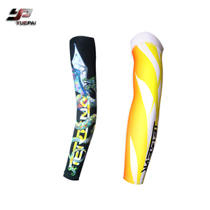 Custom breathable anti-UV outdoor activities sport arm sleeves, full sublimation printing compression cycling sleeve