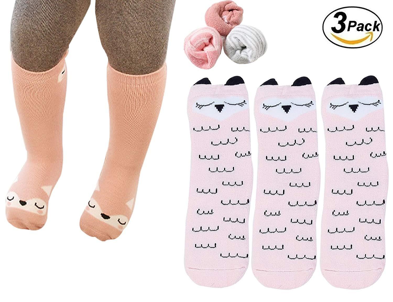 ecf05a287 Get Quotations · Baby Socks Toddler Girl Boys Knee High Socks Animal Thick  and Warm Cotton Socks 0-