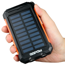 QQPOW Solar Charger 8000mAh Portable Charger,Solar Power Bank Phone charger with 3 Fast Charging USB Port