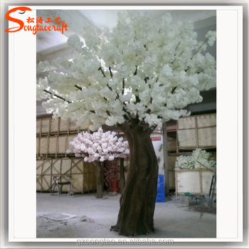 New Design Bent Tree Arch Artificial Cherry Blossom White For Wedding Decoration