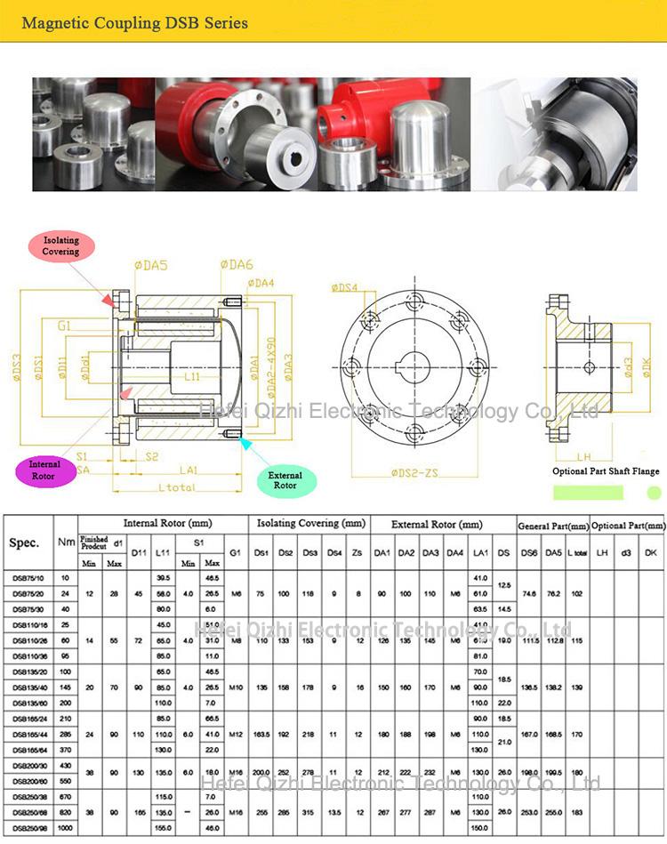 Permanent Magnet Magnetic Drive Shaft Coupling Coupler Mixer For Vacuum  Pump Motor - Buy Magnet Coupling,Motor Magnetic Coupling,Magnetic Coupling