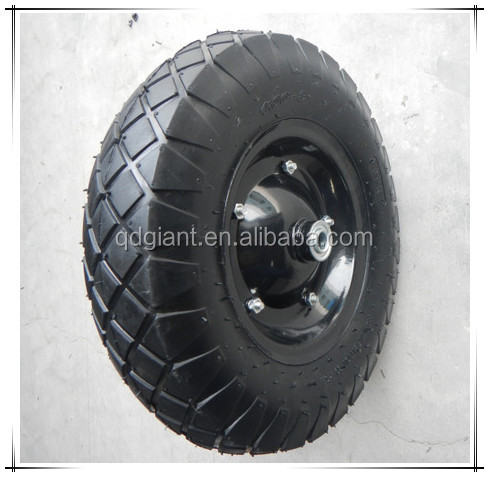 diamond pattern pneumatic rubber wheel 4.00-8