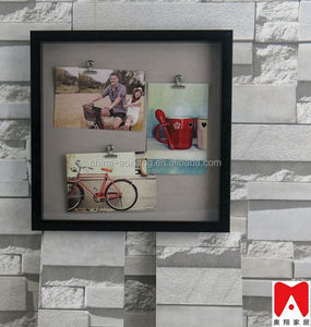 2015 White Collage Wooden Picture Frame, Multiple Landscape decorative l brackets