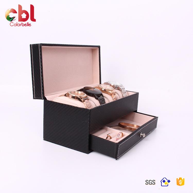 Watch Roll travel case 6 pouch Leather organiser custom