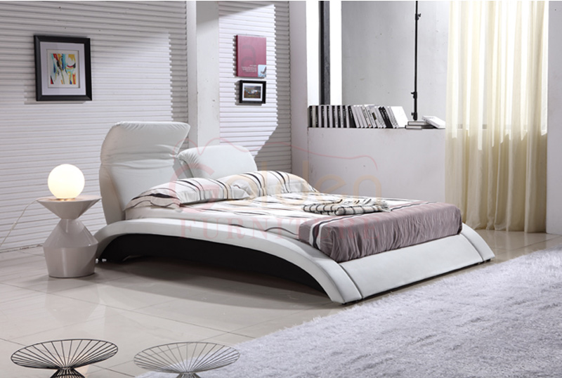 Modern new designs queen size japan massage bed with for Double bed new design