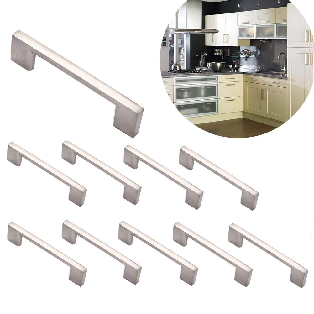 Buy Yarachel Brushed Nickel Cabinet Handles - Pack of 10 ...