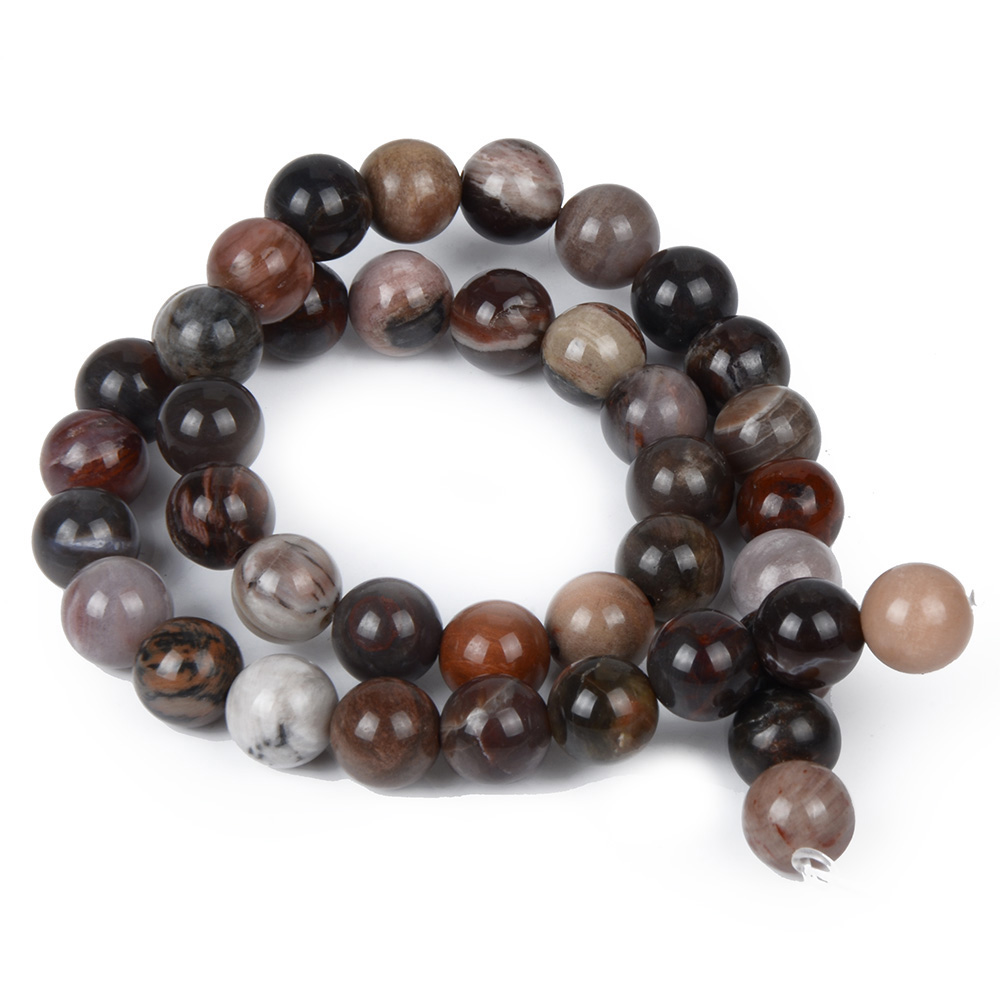 6mm 8mm 10mm 12mm Natural Stone Indonesia Xylopal Beads