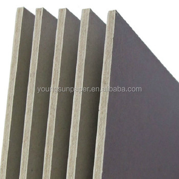 1000gsm thick grey paper/grey cardboard coated paper