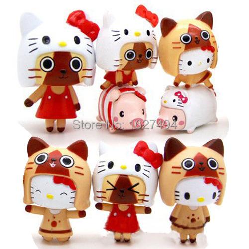 6pcs-lot-Monster-Hunter-Hello-Kitty-Sanrio-Collectible ...