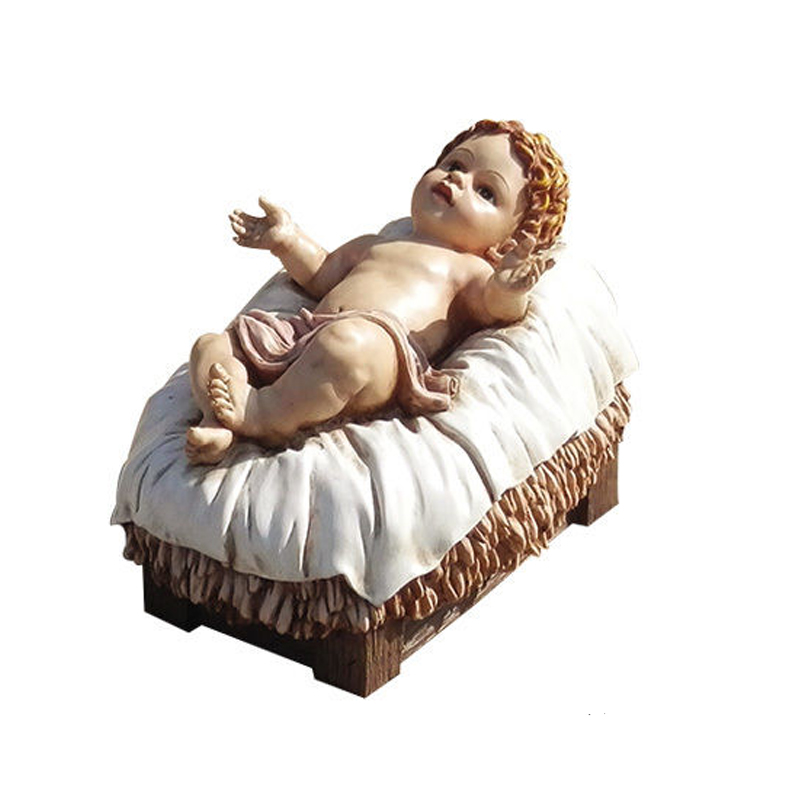 Hand Painted Nativity Baby Jesus Christ Statue Jesus Figure