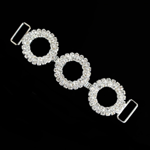 2018 new design wholesale clear crystal bikini connector in stock