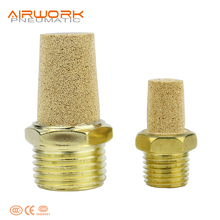 air sound silencer copper brass air compressed pneumatic muffler for valve
