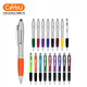 Office school promotional personalized led light ballpoint pen with stylus