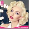 2015 6A grade 100% Brazilian virgin human hair Marilyn Monroe grey short blonde bob lace front wig