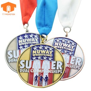 Souvenir Custom Medals China Cups Religious Basketball Football Carnival  Design Your Own Metal Award Medal With Ribbon