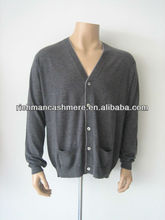 Men's V-neck Cashmere Cardigan