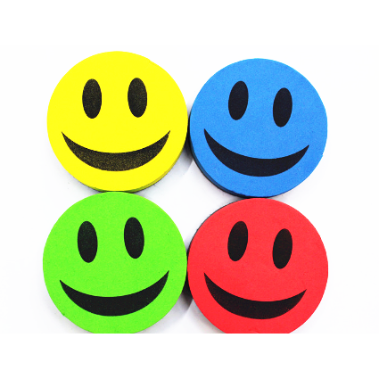 Smile face shaped magnetic whiteboard eraser