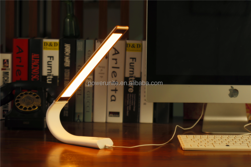 Desk lamp modern with 3000mah build-in battery and colourful metal shell for lighting and eye protection.