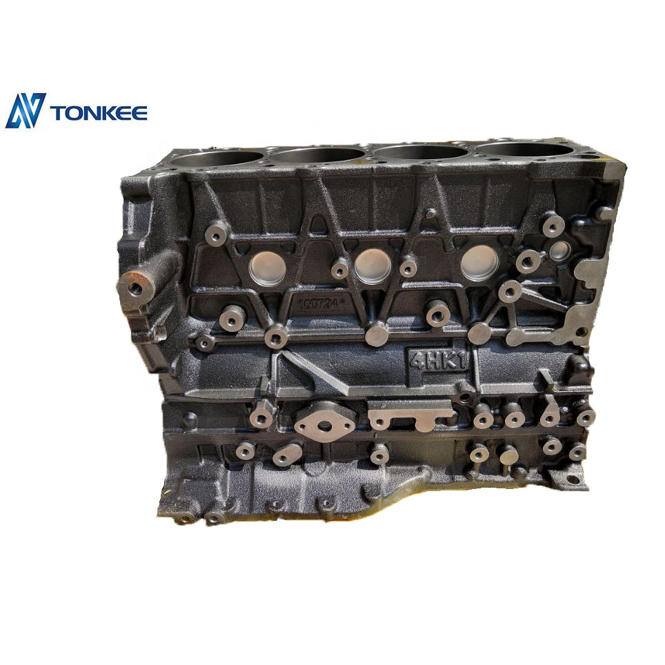 4HK1 cylinder block engine parts  for excavator engine diesel