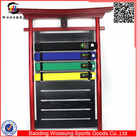 2015 martial arts personalized karate belt holder display rack