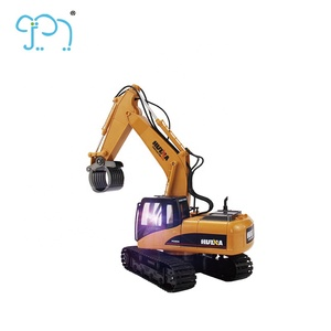 16 Channel 1 14 RC Excavator For Toy Truck Metal RC Bulldozer With HR4040