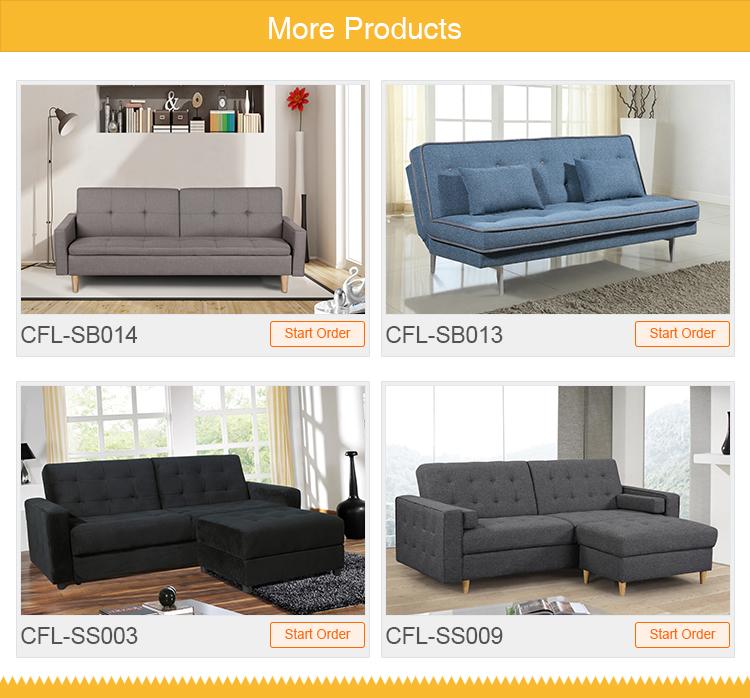 Горячие Продажа 3-Х Местный вытащить диван-кровать с стекаются ткань