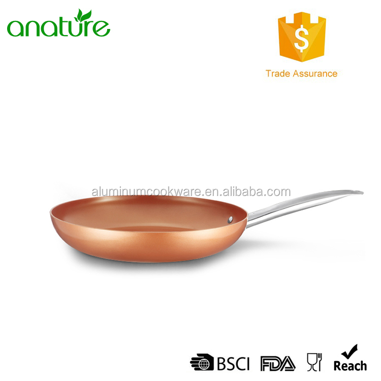 HQ-1220 Popular On Amazon High Efficiency Copper Ceramic Non-stick Aluminum Kitchen Frying Pan