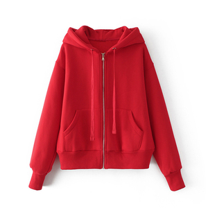 Autumn wear solid color export hoody for female