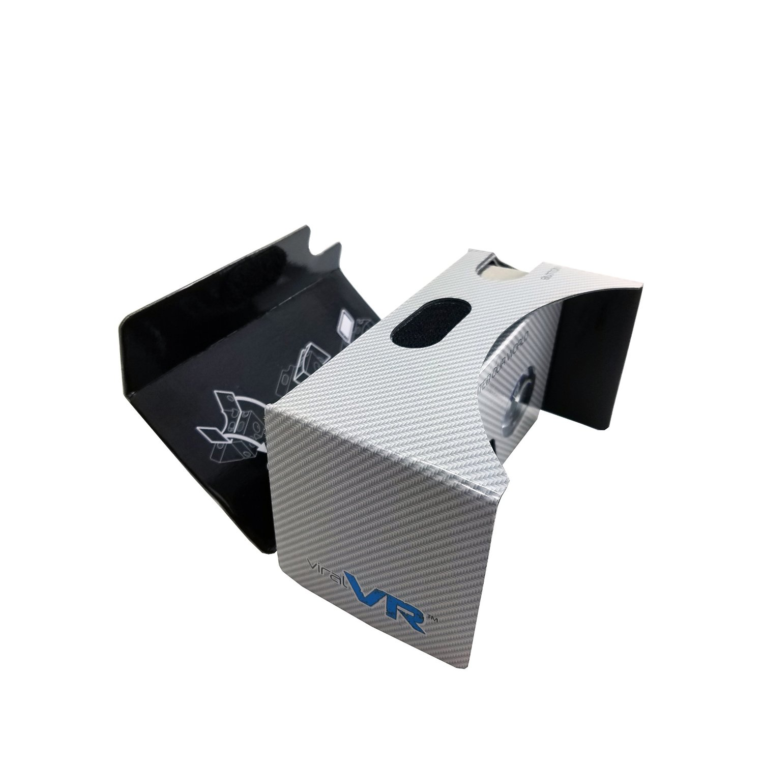 Virtual Reality Viewer Google Cardboard Android iOS Compatible VR Carbon Fiber Design
