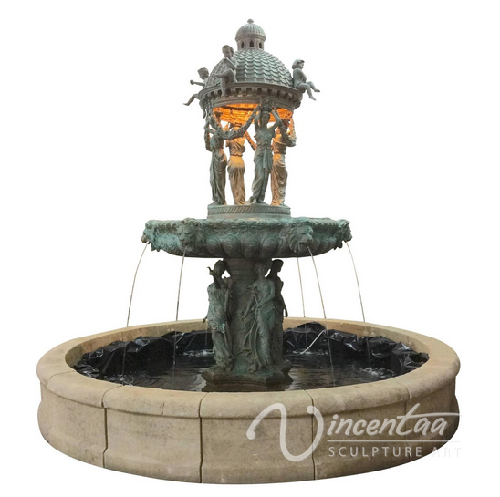 large brass fountain for a home ower association