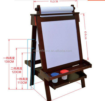 children funny scalable double sided artist easel foldable easel