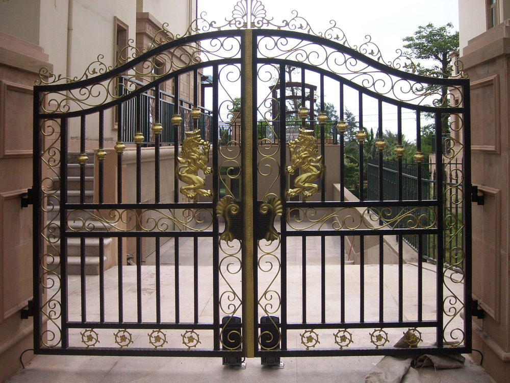 Beautiful Wrought Iron Gate Design Iron Main Gate Designs For Homes