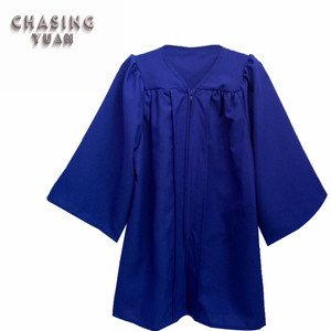 Matte Royal Blue Graduation Ball Gown for Kids