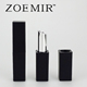 Small square cosmetic case matte black magnetic lipstick container for makeup