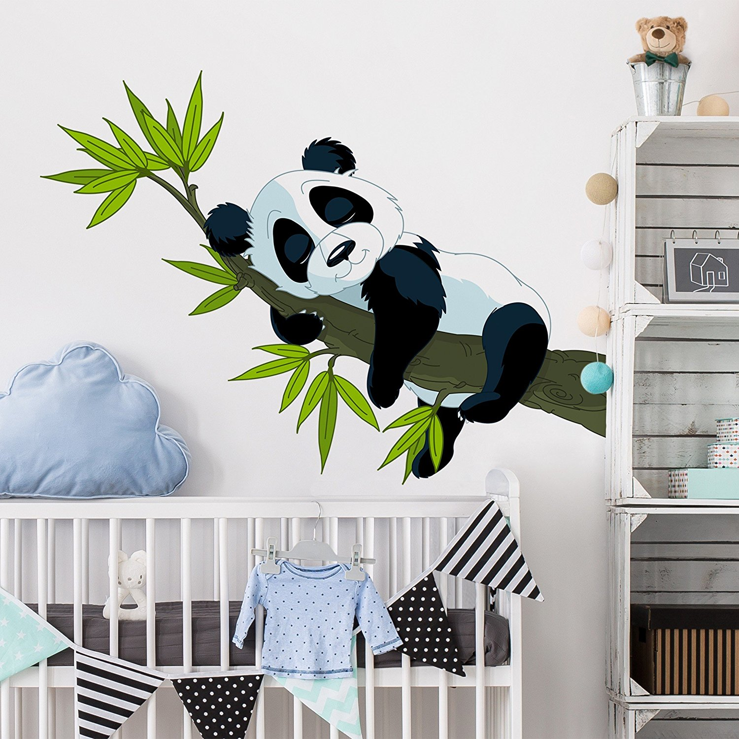 Elegant Wall Tattoo Sammlung Von Get Quotations · Decal Sleeping Panda Nursery