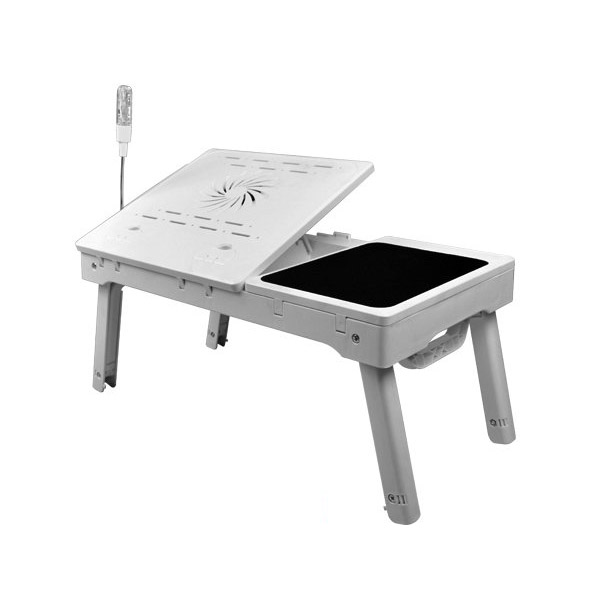 NBT-69B Portable Adjustable Folding Computer <strong>laptop</strong> <strong>table</strong> desk with CPU fan, hub, mouse pad and led light