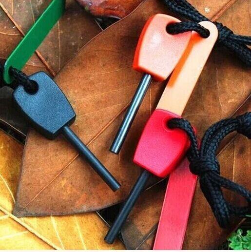 НОВЫЙ Магний Флинт Fire Starter Kit Выживание Открытый Огонь Камень Флинт Камень Fire Starter Зажигалка Комплект бесплатная доставка (300 шт./лот)