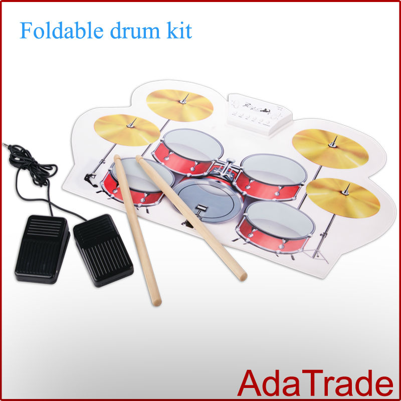 free shipping by post 1 pcs usb drum midi roll up electronic drum set portable wireless roll up. Black Bedroom Furniture Sets. Home Design Ideas