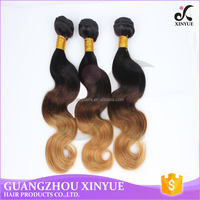 free sample high quality grade7a 8a indian hair body wave ombre color brown hair for sexy women
