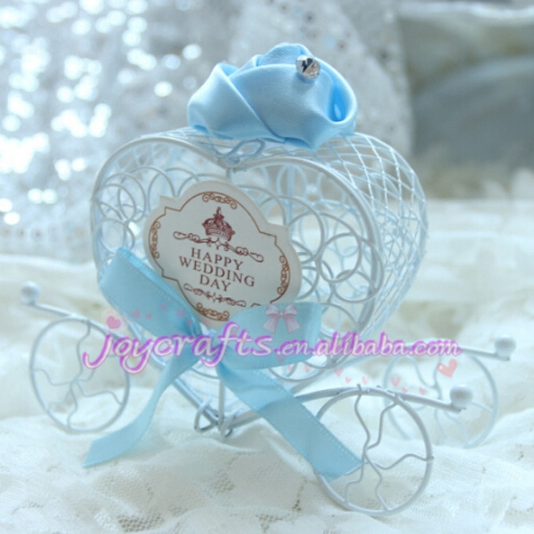 Wedding Candy Favor Box Butterfly Design Ribbon With Dots Iron Art