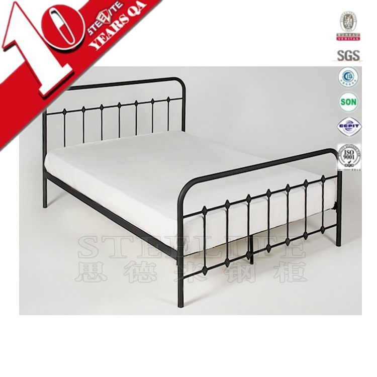 High quality stainless steel simple frame flat medical bed for sale