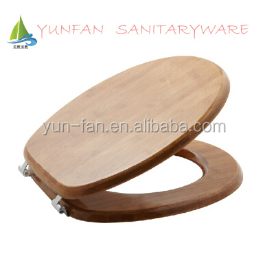 environmental clean hygiene bamboo wood toilet seat