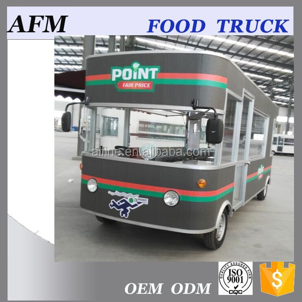 Popular fast food truck stainless steel food truck