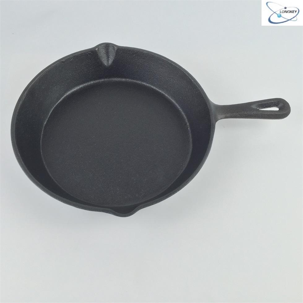 Small Cast Iron Casserole Poêle Poêle à frire en fonte Cookware Camping lait Pan
