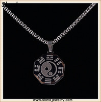 China supplier high quality wholesale high polish Classical design factory making cheap price stainless steel yin yang pendant